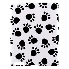 Paws Black Animals Apple Ipad 3/4 Hardshell Case by AnjaniArt