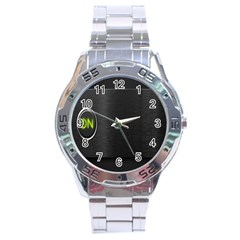 On Black Stainless Steel Analogue Watch
