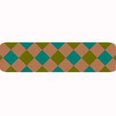 Plaid Box Brown Blue Large Bar Mats by AnjaniArt
