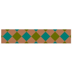 Plaid Box Brown Blue Flano Scarf (small) by AnjaniArt