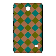 Plaid Box Brown Blue Samsung Galaxy Tab 4 (7 ) Hardshell Case  by AnjaniArt