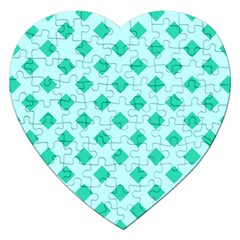 Plaid Blue Box Jigsaw Puzzle (heart) by AnjaniArt