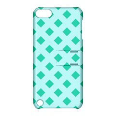 Plaid Blue Box Apple Ipod Touch 5 Hardshell Case With Stand by AnjaniArt