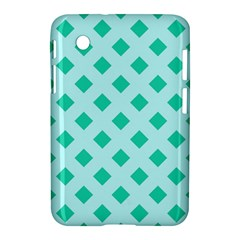 Plaid Blue Box Samsung Galaxy Tab 2 (7 ) P3100 Hardshell Case  by AnjaniArt