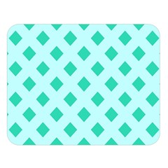 Plaid Blue Box Double Sided Flano Blanket (large)
