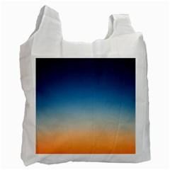 Rainbow Blue Orange Purple Recycle Bag (one Side) by AnjaniArt