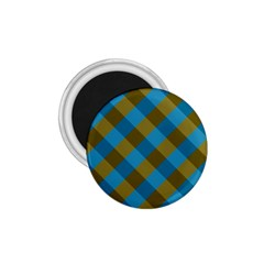 Plaid Line Brown Blue Box 1 75  Magnets