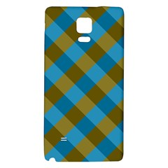 Plaid Line Brown Blue Box Galaxy Note 4 Back Case by AnjaniArt