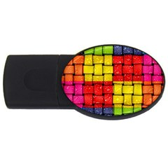 Pinterest Water Colorfull Usb Flash Drive Oval (2 Gb)