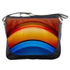 Rainbow Color Messenger Bags by AnjaniArt