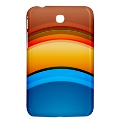 Rainbow Color Samsung Galaxy Tab 3 (7 ) P3200 Hardshell Case  by AnjaniArt