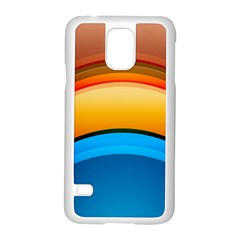 Rainbow Color Samsung Galaxy S5 Case (white) by AnjaniArt