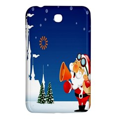 Santa Claus Reindeer Horn Castle Trees Christmas Holiday Samsung Galaxy Tab 3 (7 ) P3200 Hardshell Case  by AnjaniArt