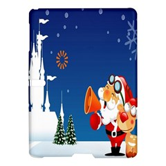Santa Claus Reindeer Horn Castle Trees Christmas Holiday Samsung Galaxy Tab S (10 5 ) Hardshell Case  by AnjaniArt