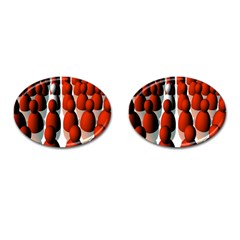 Red White Cufflinks (oval)