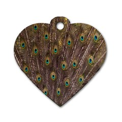 Purple Peacock Feather Wallpaper Dog Tag Heart (one Side)