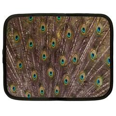 Purple Peacock Feather Wallpaper Netbook Case (xl)  by AnjaniArt