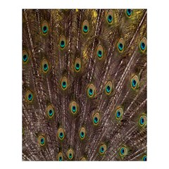 Purple Peacock Feather Wallpaper Shower Curtain 60  X 72  (medium)  by AnjaniArt