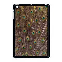 Purple Peacock Feather Wallpaper Apple Ipad Mini Case (black)