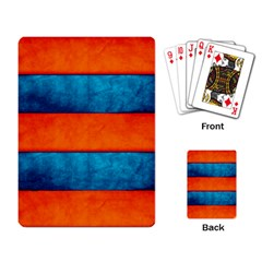 Red Blue Playing Card by AnjaniArt
