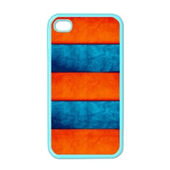Red Blue Apple Iphone 4 Case (color)