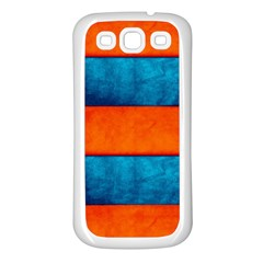 Red Blue Samsung Galaxy S3 Back Case (white)