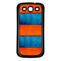 Red Blue Samsung Galaxy S3 Back Case (black)