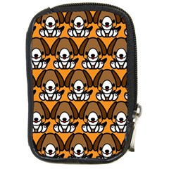Sitbeagle Dog Orange Compact Camera Cases by AnjaniArt