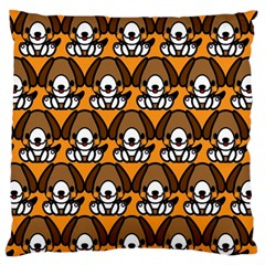 Sitbeagle Dog Orange Standard Flano Cushion Case (one Side)