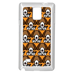 Sitbeagle Dog Orange Samsung Galaxy Note 4 Case (white) by AnjaniArt