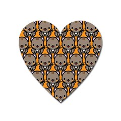 Sitcat Orange Brown Heart Magnet by AnjaniArt