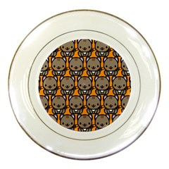Sitcat Orange Brown Porcelain Plates