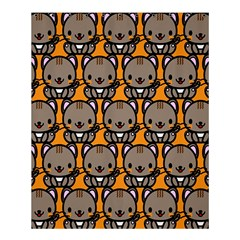 Sitcat Orange Brown Shower Curtain 60  X 72  (medium)  by AnjaniArt