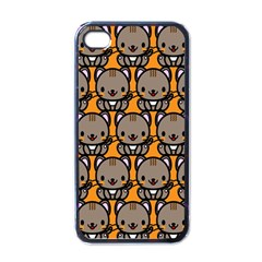 Sitcat Orange Brown Apple Iphone 4 Case (black) by AnjaniArt