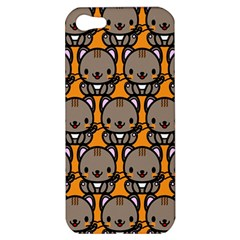 Sitcat Orange Brown Apple Iphone 5 Hardshell Case by AnjaniArt