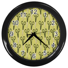 Scissor Wall Clocks (black) by AnjaniArt