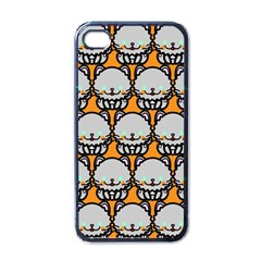 Sitpersian Cat Orange Apple Iphone 4 Case (black) by AnjaniArt