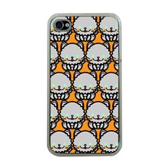Sitpersian Cat Orange Apple Iphone 4 Case (clear) by AnjaniArt