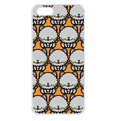 Sitpersian Cat Orange Apple Iphone 5 Seamless Case (white) by AnjaniArt