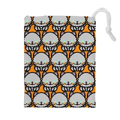 Sitpersian Cat Orange Drawstring Pouches (extra Large) by AnjaniArt