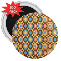 Round Color 3  Magnets (100 Pack) by AnjaniArt