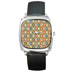Round Color Square Metal Watch by AnjaniArt