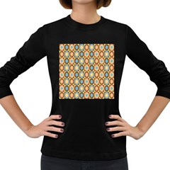 Round Color Women s Long Sleeve Dark T Shirts