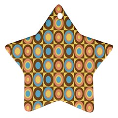 Round Color Star Ornament (two Sides)  by AnjaniArt