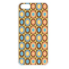 Round Color Apple Iphone 5 Seamless Case (white) by AnjaniArt