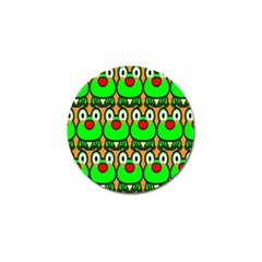 Sitfrog Orange Face Green Frog Copy Golf Ball Marker (4 Pack) by AnjaniArt