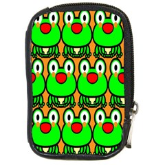 Sitfrog Orange Face Green Frog Copy Compact Camera Cases by AnjaniArt