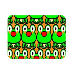 Sitfrog Orange Face Green Frog Copy Double Sided Flano Blanket (mini)  by AnjaniArt