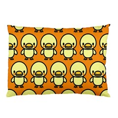 Small Duck Yellow Pillow Case by AnjaniArt