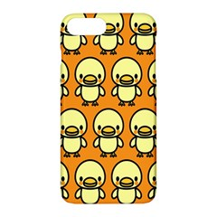 Small Duck Yellow Apple Iphone 7 Plus Hardshell Case by AnjaniArt